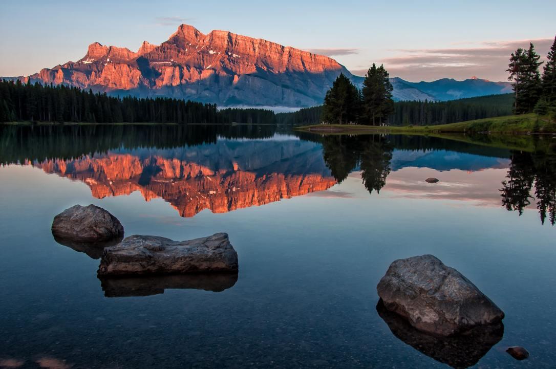 clear still lake